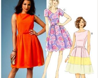 Classic Dress Pattern, Butterick Sewing Pattern 5982