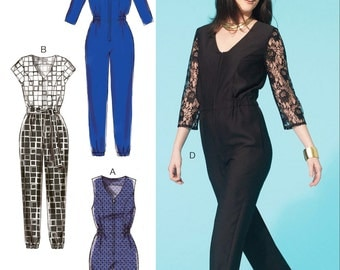 Zip Front Jumpsuit Pattern, McCall's Sewing Pattern 7292