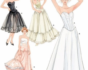 Misses' Formal Lingerie Pattern, Wedding Lingerie Pattern, Costume Petticoat Pattern, Corset Pattern, Simplicity Sewing Pattern 5006