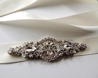 Jayden Victorian Bridal Brooch Art Deco Bustier Wedding Dress Sash Jewelry Crystal Belt