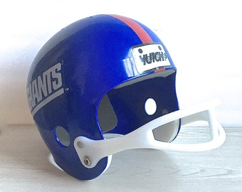 Vintage Sports Football,  Giants Youth Football Outfit And Helmet Hutch