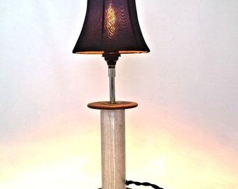 VINTAGE TEXTILE SPOOL Lamp - steam punk lamp - modern lamp - metal lamp - boho lamp - table lamp - bedside lamp