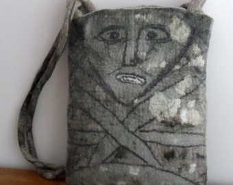 Felted Bag - Celtic Stone Figure