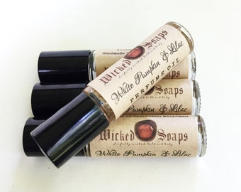 White Pumpkin and Lilac Perfume Oil - Roll On Perfume Oil, Roller Perfume Oil