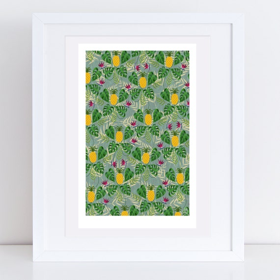 Heligan Pineapples Print