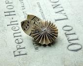 Paper rose brooch,vintage sheet music