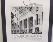 Reserved for CT - Waldorf Astoria Hotel,  Waldorf Astoria early ad,  Hotel advertising 1931
