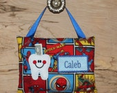 Spiderman tooth fairy pillow,Personalized tooth fairy pillow,Tooth fairy pillow,Boy tooth fairy pillow,  SHIPS NEXT DAY