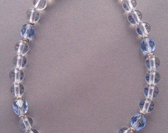 Clear Quartz, Glass with Sterling Silver Bracelet: Harmony Power Bracelet