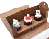 5 window kraft tote boxes for cup cake (3 hd type)