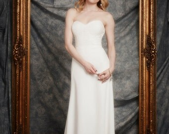 Justine Gown, Cotton lace, Sweetheart bodice, A Line skirt, Wedding Gown