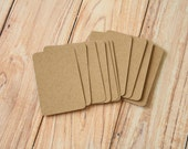 200pc Recycled Plain KRAFT Eco Series Business Card Blanks