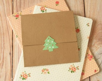 Textured Kraft Brown NO Glue CD sleeve envelopes