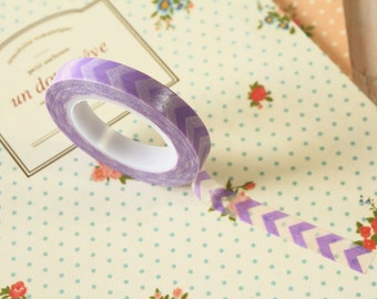Purple Chevron Thin Washi Masking Tape