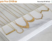 Valentines Day Sale Geometric Hammered Brass Necklaces - Seven different shapes - Simple Gold jewelry
