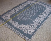 Lord's Prayer Woven Tapestry Throw