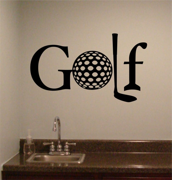 Golf Word Golf Theme Quote Vinyl Wall Lettering Vinyl Wall