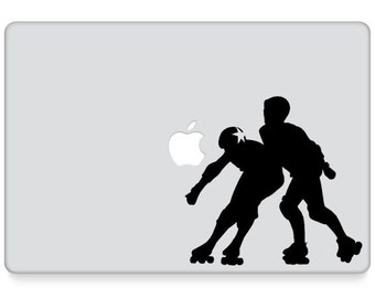 Roller Derby Decal || Roller Derby Laptop Decal || Jammer Blocker || Roller Girl Laptop Decal || Roller Derby Laptop Sticker