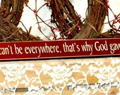 Angels can't be everywhere, that's why God gave us friends - Primitive Country Shelf Sitter, Painted Wood Sign, wall decor, inspirational