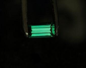 Tourmaline Blue Green  7.25 x 4.25mm 1.14 carats Gem grade
