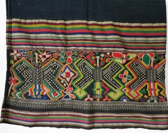 Summer Sale 15% Off - IDHVTG03 - Vintage Highland Laos Embroidery Sarong No.3