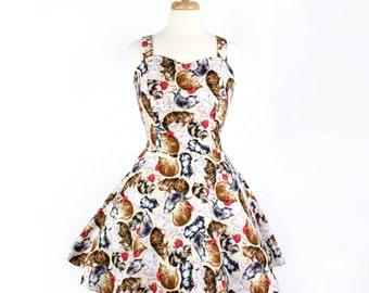 Custom Retro Inspired Kitten Dress