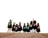 Superhero Cape Personalized Name Lightening Bolt Custom Colors , 2T - 7T, super hero costume girl toy fast delivery Worldwide