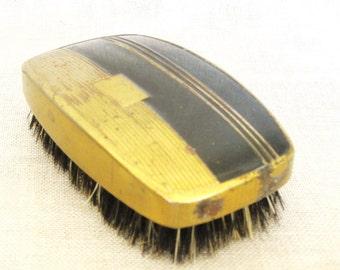 Brush, Shoe Brush, Clothing Brush, Brushes, Antique, Metal Brush, Shoe Care, Clothing Care, Lint Brush, Art Deco, Masculine, Wood Grain, Men