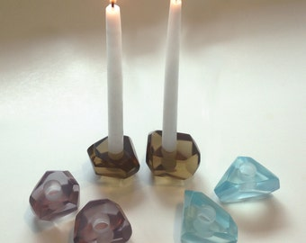 Gems Candle Holders, Elegant Translucent Resin Candle Holders, Centerpiece, Hostess Gift, Wedding Gift, Bridal Gift
