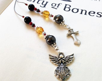 The Mortal Instruments City of Bones Bookmark Urban Fantasy Beaded Book Thong Rear View Mirror Car Accessory Dagger Clockwork Angel Charms