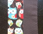 Mini Tissue Cases - Owls - Brown - White