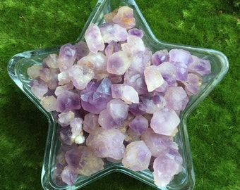 Amethyst Elestial quartz pieces, skeletal quartz, crystal grid making, 30g