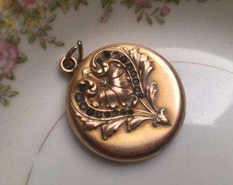 Art Nouveau antique gold filled locket