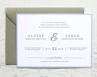 Alysse Custom Wedding Invitation