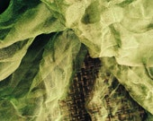 """Green shade Silk Gauze Scarf(Perfect  for Nuno Felting) 40""""X70"""""""