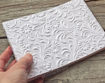 Wedding Guest Book, White Floral Paperback Journal, READY to SHIP