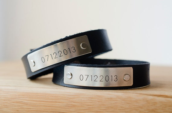 Minimal Custom Date Cuff Set of 2