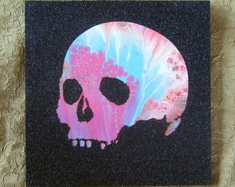 Skull painting, handmade