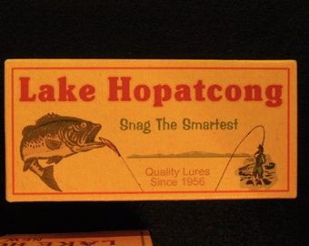 Lake Hopatcong New Jersey fishing lure boxes make great nostalgic lake house decorations