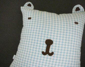 Bear Head Pillow - Pillow Cover  - Decorative Pillow - Animal - Nursery Decor