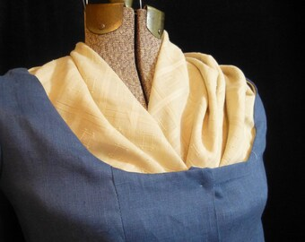 Checked Lawn Kerchief, 18th century Accessory