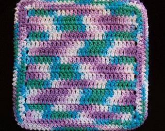 100% Cotton Hand Crocheted Dishcloth Washcloth Color: BEACH BALL