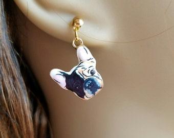 Destiny's French Bulldog Earrings