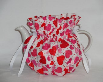 Pretty Valentinesl Reversible 6 Cup Teapot Cozy