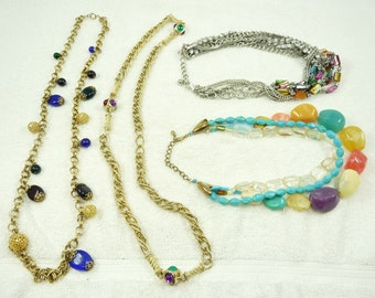 Nice Mixed Lot of Vintage Beaded & Chain Necklaces
