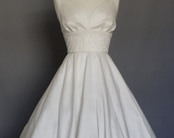 Ivory Silk Dupion & Eden Lace Sweetheart Wedding Dress - Made by Dig For Victory