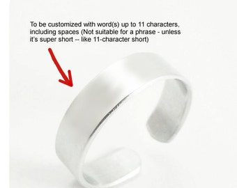 Customized ring - Personalized metal ring - Personalized stamped jewelry - Message ring word ring (Up to 11 characters)