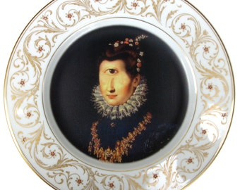 Duchess Cyclops Portrait  - Altered Vintage Plate 10.75""