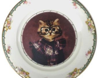 """Tara, School Portrait - Altered Vintage Plate 10"""""""