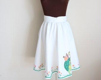 Vintage 1970's Turtle Print Circle Skirt